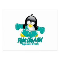 PCOS Fighting Penguin Postcard