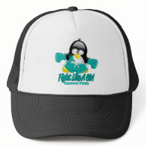 PCOS Fighting Penguin Trucker Hat
