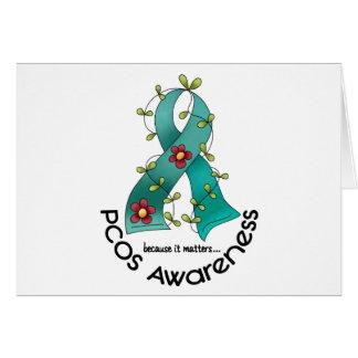 PCOS Flower Ribbon Greeting Card