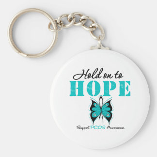 PCOS Hold On To Hope Keychain
