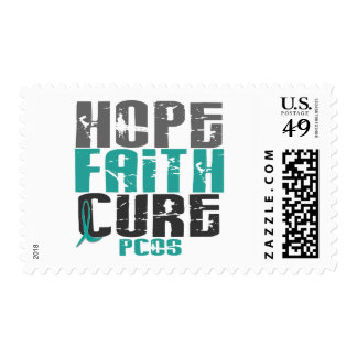 PCOS Hope Faith Cure Postage Stamp