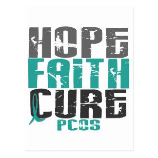 PCOS Hope Faith Cure Postcard