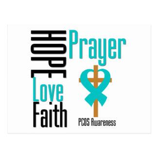 PCOS Hope Love Faith Prayer Cross Post Cards