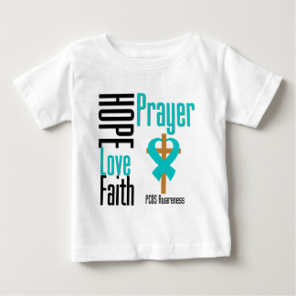 PCOS Hope Love Faith Prayer Cross Tshirts