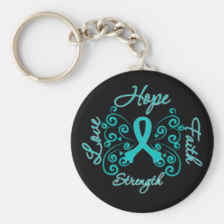 PCOS Hope Motto Butterfly Key Chains