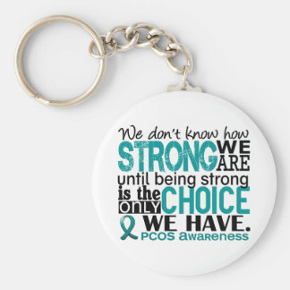 PCOS How Strong We Are Basic Round Button Keychain