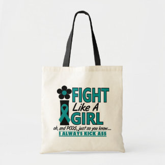 PCOS I Fight Like A Girl 1.2 Budget Tote Bag