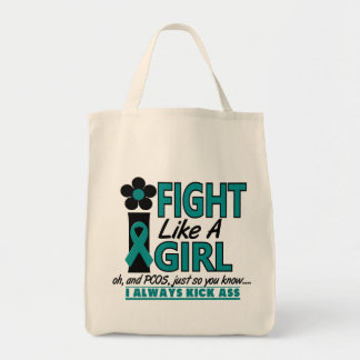 PCOS I Fight Like A Girl 1.2 Grocery Tote Bag