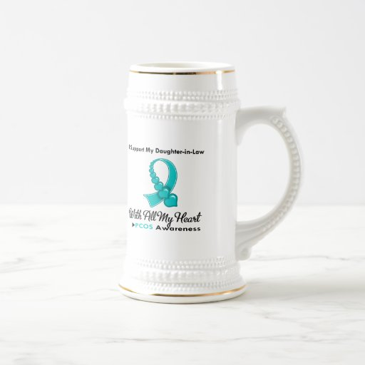 PCOS I Support My Daughter-in-Law 18 Oz Beer Stein