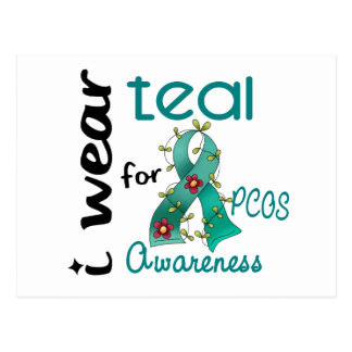 PCOS I Wear Teal For Awareness 43 Postcard
