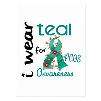 PCOS I Wear Teal For Awareness 43 Postcards
