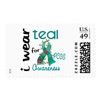PCOS I Wear Teal For Awareness 43 Stamps