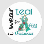 PCOS I Wear Teal For Awareness 43 Sticker