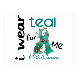 PCOS I Wear Teal For ME 43 Postcard