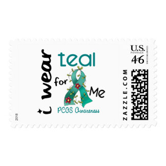 PCOS I Wear Teal For ME 43 Stamps