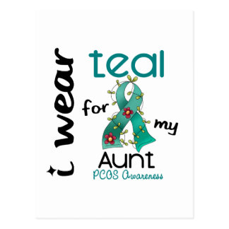 PCOS I Wear Teal For My Aunt 43 Postcard