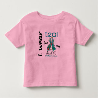 PCOS I Wear Teal For My Aunt 43 Toddler T-shirt