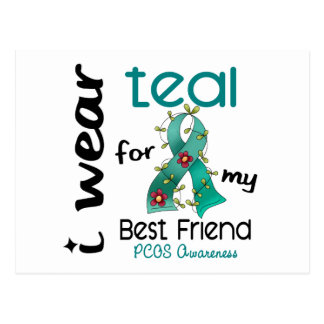 PCOS I Wear Teal For My Best Friend 43 Postcard