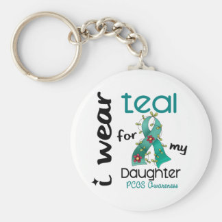 PCOS I Wear Teal For My Daughter 43 Keychains
