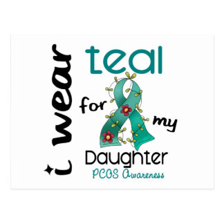 PCOS I Wear Teal For My Daughter 43 Postcard
