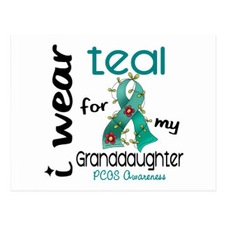 PCOS I Wear Teal For My Granddaughter 43 Postcard