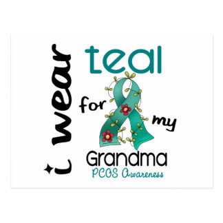 PCOS I Wear Teal For My Grandma 43 Postcard