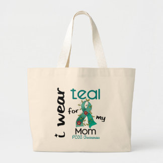 PCOS I Wear Teal For My Mom 43 Jumbo Tote Bag