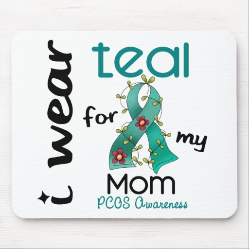 PCOS I Wear Teal For My Mom 43 Mouse Mats