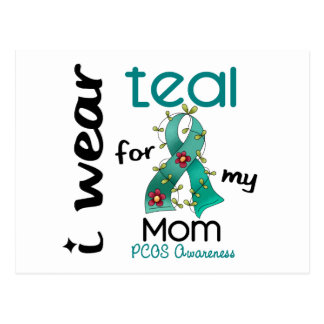 PCOS I Wear Teal For My Mom 43 Postcard