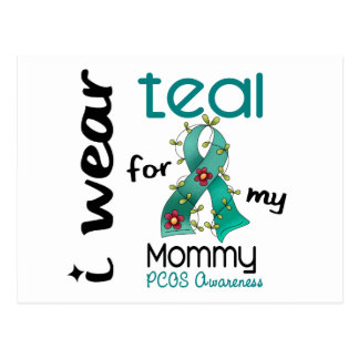 PCOS I Wear Teal For My Mommy 43 Postcard