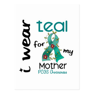 PCOS I Wear Teal For My Mother 43 Postcard