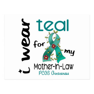 PCOS I Wear Teal For My Mother-In-Law 43 Postcard