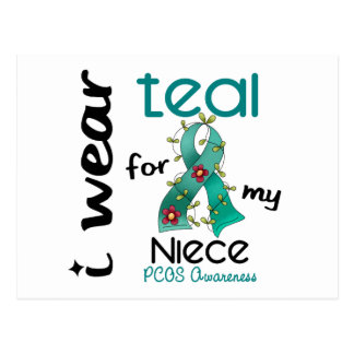 PCOS I Wear Teal For My Niece 43 Postcard