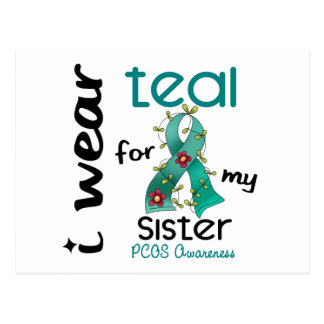 PCOS I Wear Teal For My Sister 43 Postcard
