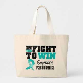 PCOS In The Fight To Win Large Tote Bag