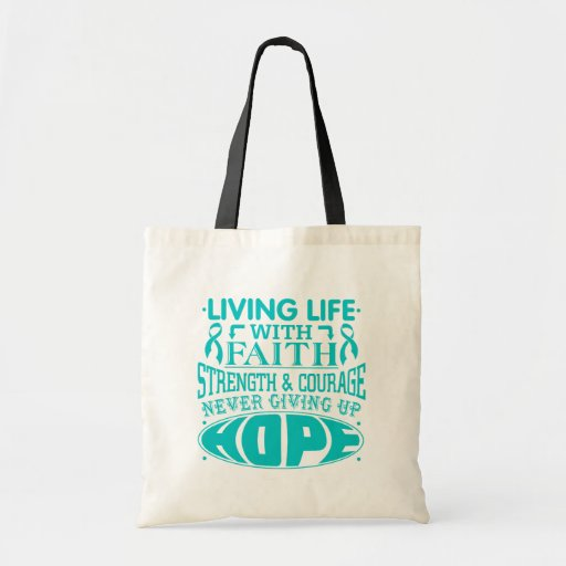 PCOS Living Life with Faith Tote Bag