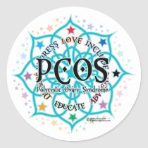 PCOS Lotus Classic Round Sticker