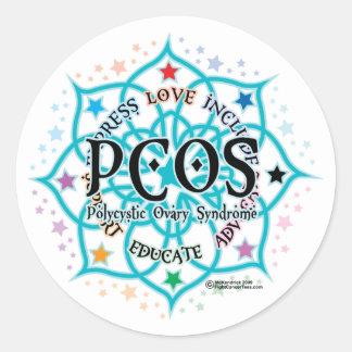 PCOS Lotus Etiqueta Redonda