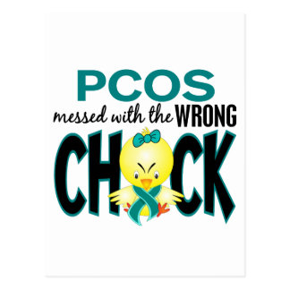 PCOS Messed With The Wrong Chick Postcard
