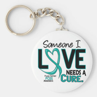 PCOS Needs A Cure 2 Basic Round Button Keychain
