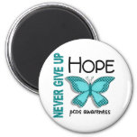 PCOS Never Give Up Hope Butterfly 4.1 Fridge Magnets