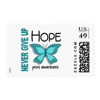 PCOS Never Give Up Hope Butterfly 4.1 Postage Stamps