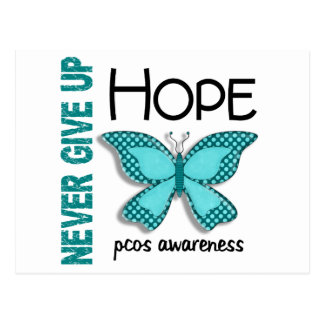PCOS Never Give Up Hope Butterfly 4.1 Postcard