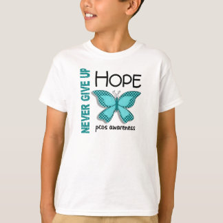 PCOS Never Give Up Hope Butterfly 4.1 T-Shirt