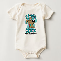 PCOS Paws for the Cure Baby Bodysuit