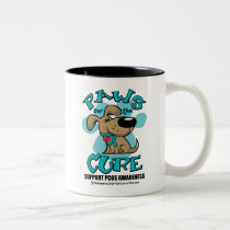PCOS Paws for the Cure Two-Tone Coffee Mug