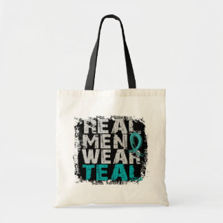 PCOS Real Men Wear Teal Polycystic Ovarian Syndrom Budget Tote Bag