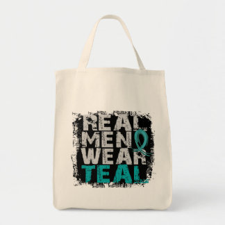 PCOS Real Men Wear Teal Polycystic Ovarian Syndrom Bag