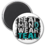 PCOS Real Men Wear Teal Polycystic Ovarian Syndrom Magnet