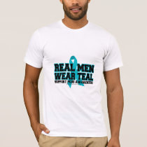 PCOS Real Men Wear Teal T-Shirt